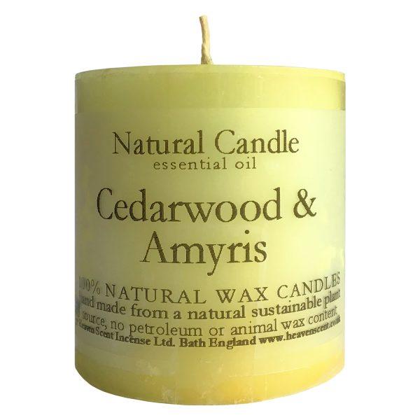 Heaven Scent Essential Oil Candle - Cedarwood & Amyris