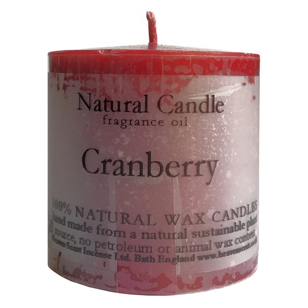 Heaven Scent Fragranced Candle - Cranberry