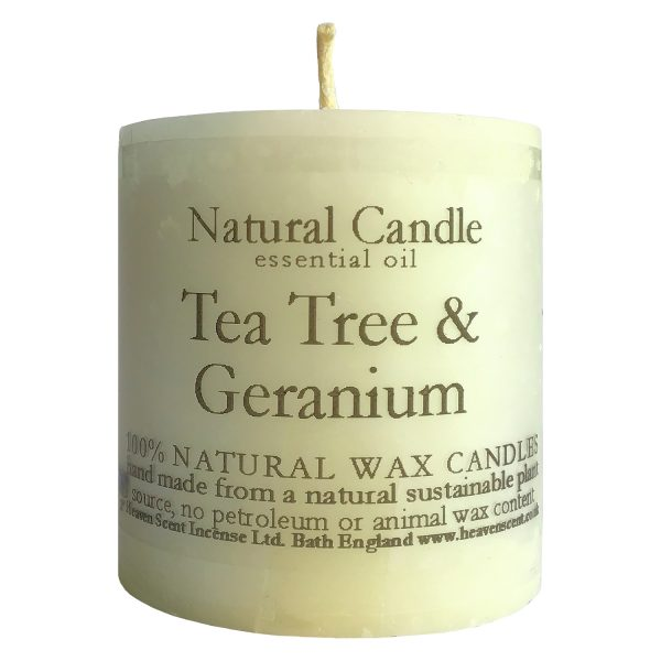 Heaven Scent Essential Oil Candle - Tea Tree & Geranium