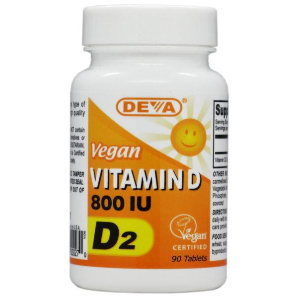 Deva Vegan Vitamin D2 - 800iu