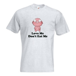 Icon Pop Men's T-Shirt - Love Me - Pig - Ash Grey