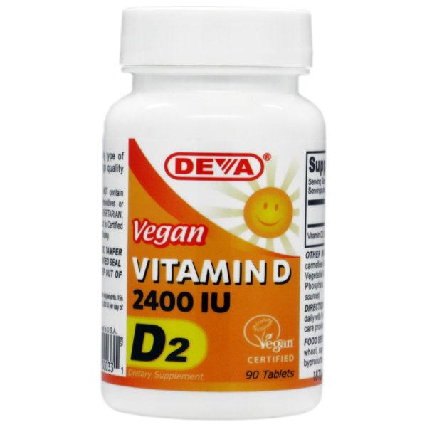 Deva Vegan Vitamin D2 - 2400iu