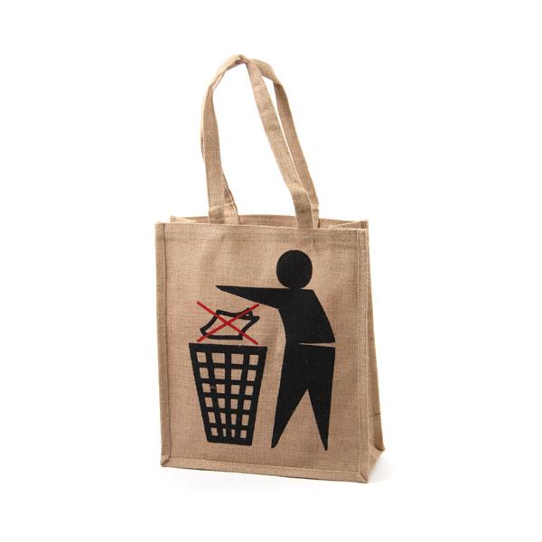 Jute Shopping Bag - Don't Bin It