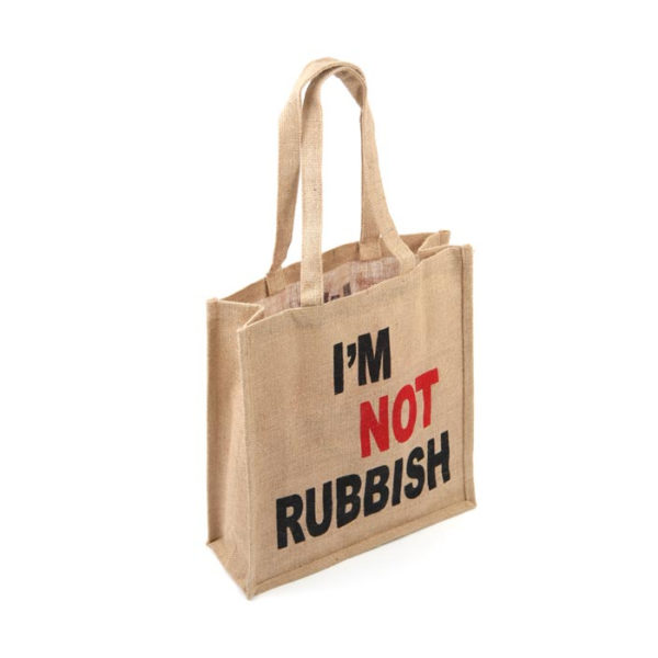 Jute Shopping Bag - I'm Not Rubbish
