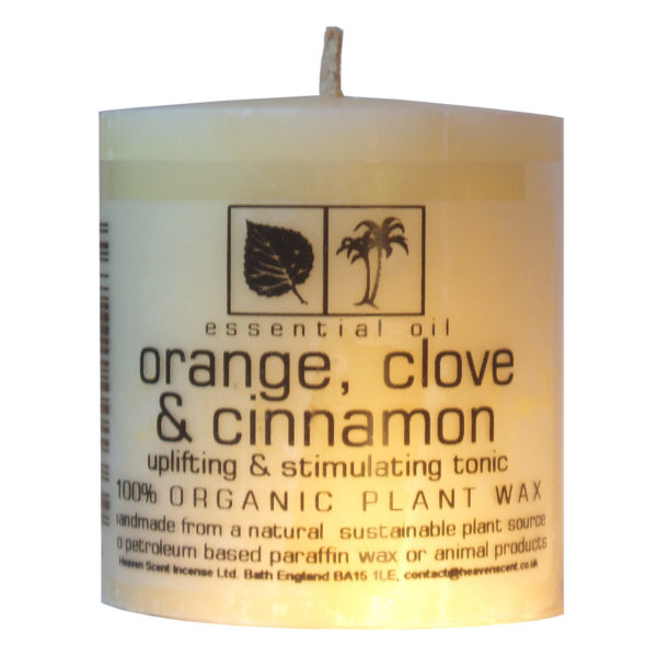 Heaven Scent Essential Oil Candle - Orange, Clove & Cinnamon