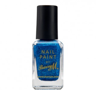 Barry M Cosmetics Nail Paint - Blue Glitter (no. 297)