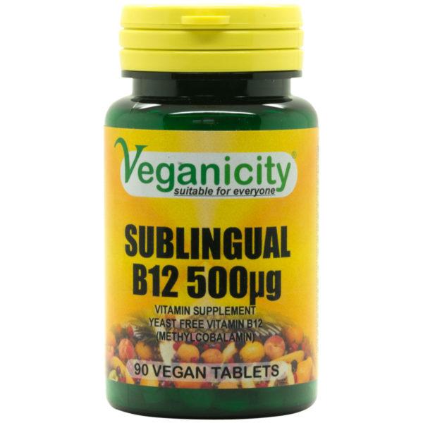 Veganicity Sublingual Vitamin B12 - 500mcg