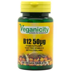 Veganicity Vitamin B12 - 50mcg