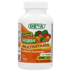 Deva Vegan One-a-Day Multivitamin & Mineral - Iron Free