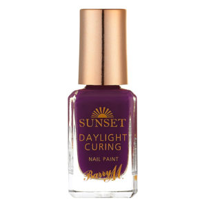 Barry M Cosmetics Sunset Nail Paint - Plum On Baby Light My Fire (no. 11)