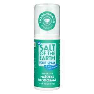 Salt of the Earth Natural Foot Deodorant Spray - Menthol
