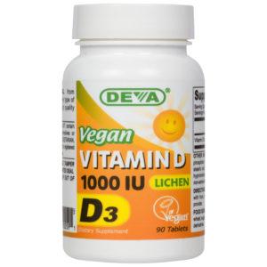 Deva Vegan Vitamin D3 - 1000iu