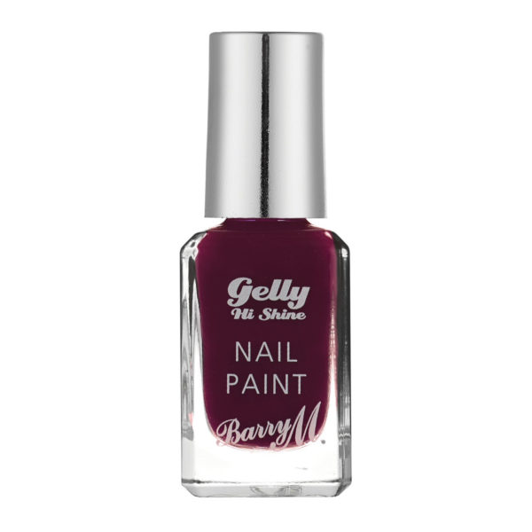 Barry M Cosmetics Gelly Hi Shine Nail Paint - Black Cherry (no. 42)
