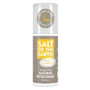 Salt of the Earth Natural Deodorant Spray - Amber & Sandalwood