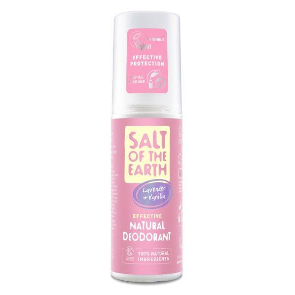 Salt of the Earth Natural Deodorant Spray - Lavender & Vanilla